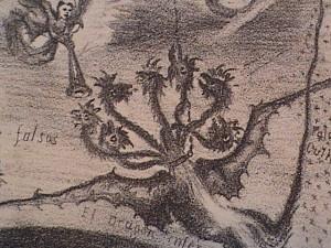 El Dragón infernal y sus testas coronadas, del Apocalipsis