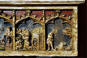 Detalles del sarcófago de San Daniel